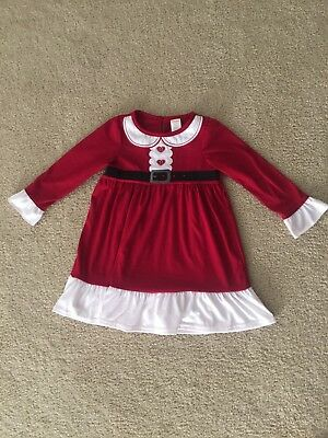 Gymboree Mrs Claus Santa Christmas Holiday Red Nightgown XS 3 4 3-4