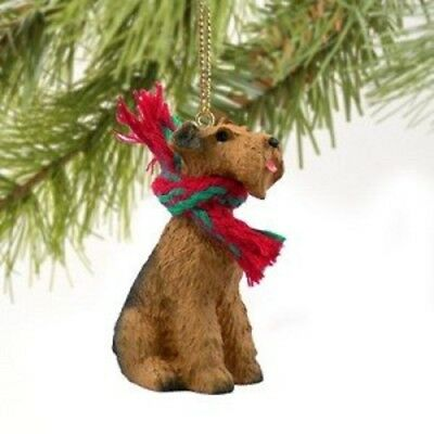 Airedale Terrier Miniature Dog Ornament Christmas Decoration Hand Painted