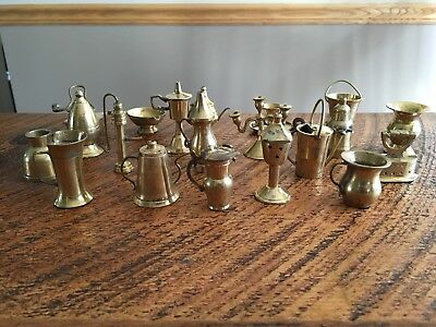 Vintage Lot Of(20) Miniature Brass Assorted Items