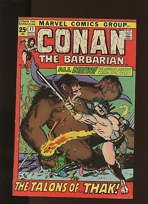 Conan the Barbarian 11 FN+ 6.5 * 1 Book Lot * Marvel! Barry Smith Cover & Art!