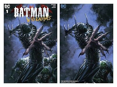 Batman Who Laughs 1 Clayton Crain Trade Dress Variant Set Hot New Dc Series Nm/M