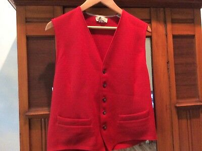Vintage Mens Cox Moore Wool Vest Christmas Red England Sweater British M