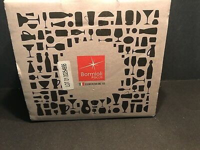 Bormioli OSLO Cappuccino Coffee Glass Metal Handle 7.5 oz New in Box, Set of 4