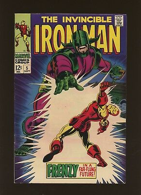 Iron Man 5 FN+ 6.5 * 1 Book Lot * Marvel! 1968-74! Frenzy In A Far-Flung Future!