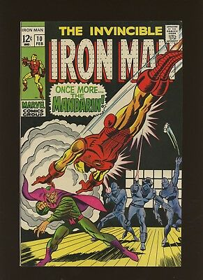 Iron Man 10 FN+ 6.5 *1 Book* Marvel! 1968-74! Vol.1! Once More... The Mandarin!