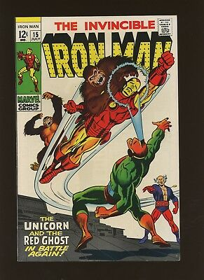 Iron Man 15 FN/VF 7.0 * 1 Book * Marvel! 1968-74,1st Red Ghost's Trained Apes!