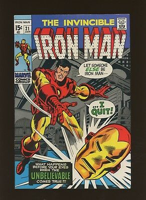 Iron Man 21 FN+ 6.5 * 1 Book Lot * Marvel! 1968-74! Vol.1! The Replacement!!