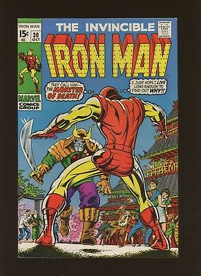 Iron Man 30 FN+ 6.5 *1 Book* Marvel! 1968-74! The Menace of the Monster-Master!