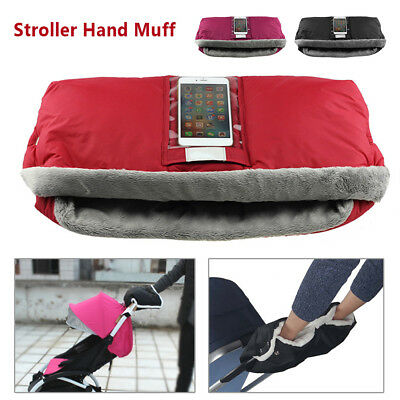Baby Pram Stroller Warmer Gloves Pushchair Hand Winter Muff Waterproof Pocket US
