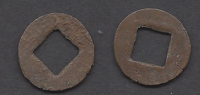 Post HAN DYNASTY CHINA Cut down Ancient Wu Shu Coin (#G987)