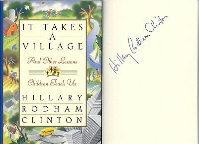 "1996 Hillary Rodham Clinton Autopen Signed ""it Takes A Village"" Hcdj"