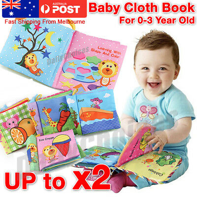 Baby Animal Cloth Book Infant Kid Intelligence Development Toy Bed Cognize Books