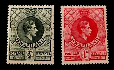 swaziland-1938-Half & One Pence Definitives-MH Good gum