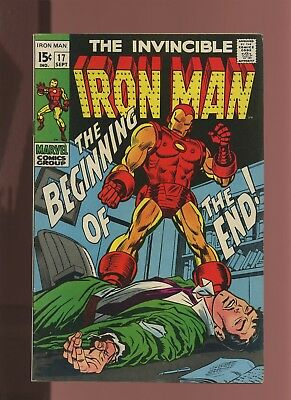 Iron Man 17 FN/VF 7.0 * 1 Book Lot * Marvel,1968-74,Vol.1,Beginning of the End!