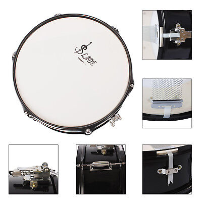 """LADE Professional 14"""" Snare Drum Head &Drumstick Drum Key Strap for Student Band"""
