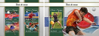 SAO TOME 2018 MNH ** Table Tennis Tischtennis SET #101ba B