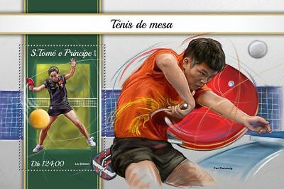 SAO TOME 2018 MNH ** Table Tennis Tischtennis S/S #101b B