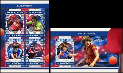 SIERRA LEONE 2018 MNH ** Table Tennis Tischtennis SET #213ba B