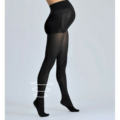 Cache Coeur Size XLarge ACTIV' SOFT 70 Den Opaque Maternity Tights in Black NWT