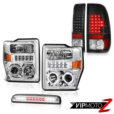 2008 2009 2010 Ford F250 SD Clear Headlights Black LED Taillights Brake Cargo