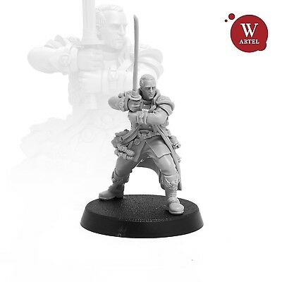 """28mm wargaming and collectible miniature, Inquisitor Gregor by Artel """"W"""""""