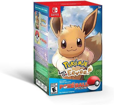 Pokémon: Let's Go, Eevee! + Poké Ball Plus Pack Bundle Nintendo Switch