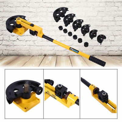 10-25mm Manual Pipe Tube Bender Metal Bending With 7 Dies Tool Workshop Handheld