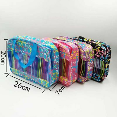 Travel Cosmetic Storage Bag Color Waterproof Transparent Bathroom Bath Supplies
