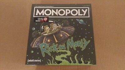 New USApoly Rick and Morty Monopoly Gamestop Exclusive Read Description