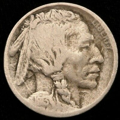 1913-S Type 2 Buffalo Nickel - Solid Good G+/VG Key Date Buffalo Nickel