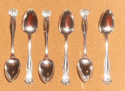 (6) TEASPOONS - ROGERS BROS. A1 - SILVERPLATED - MYSTIC PATTERN - No Monogram