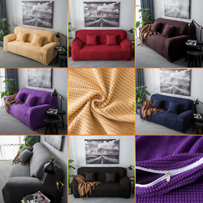 New Spandex Stretch Sofa Covers Easy Fit Couch Protector 1/2/3 Seater Slip Cover