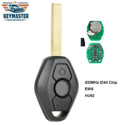 Bentley Style Flip Remote Car Key Fob 433MHz ID44 for 1999-2005 BMW Models HU92
