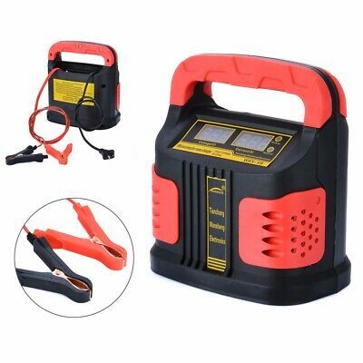 350W 14A AUTO Plus Adjust LCD Car Battery Charger 12V-24V Caravan Motorcycle
