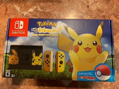 Pokemon: Let's Go, Pikachu! + Poke Ball Plus - Nintendo Switch Pikachu Console