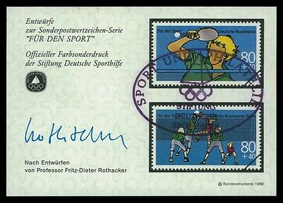 BRD SPORTHILFE 1989 ENTWÜRFE TISCHTENNIS VOLLEYBALL TABLE TENNIS PROOFS by23