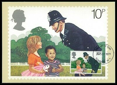 GB UK MK 1979 POLIZEI POLICE MAXIMUMKARTE CARTE MAXIMUM CARD MC CM bb46