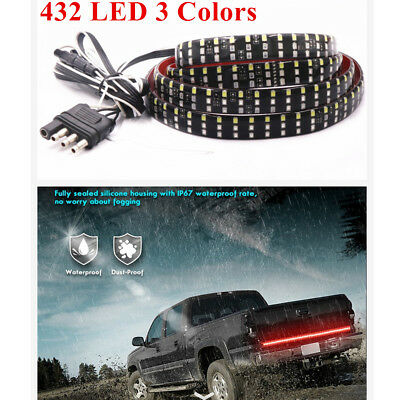 """60"""" 3-Row 432 LED Turn Signal/Brake/DRL/Flowing Double Flash Tailgate Light"""