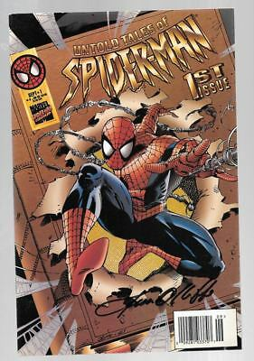 Untold Tales Of Spider-Man 1 Signed By Pat Olliffe Fantastic Four Unplugged Flip