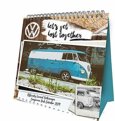 2019 Volkswagen Campervan Official Desk Easel Calendar by Danilo