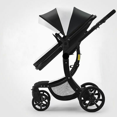 1Pc Black Baby Pushchair Foldable Baby Stroller Jogger Carriage Travel Pram New