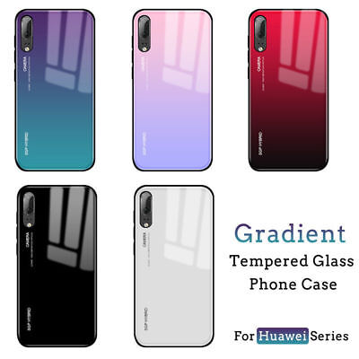 For Huawei mate20 Lite P20 Lite Pro Gradient Tempered GLASS BACK Slim Case Cover