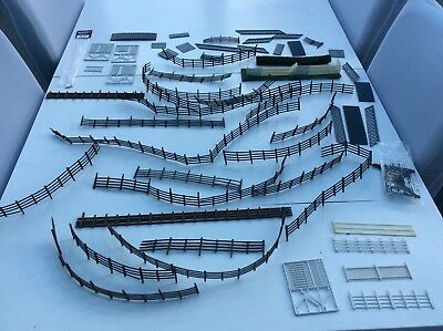 O Guage various job lot of fencing and stairs ,models railway modelling.