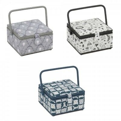 Medium Square Sewing Box Basket Classic Collection Craft Storage Hobbygift