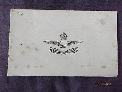 WWI RAF 1918 Xmas CARD BEF the Engine Repair Shops in the Field