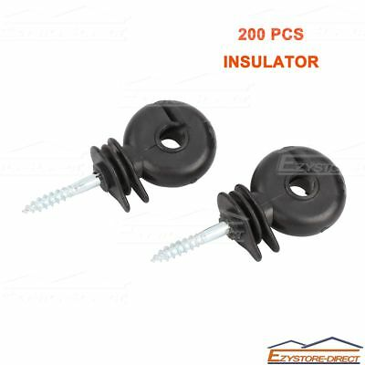 200 PCS Screw-In Ring Polyrope Insulator Wood Post Electric Fence Ring Insulator