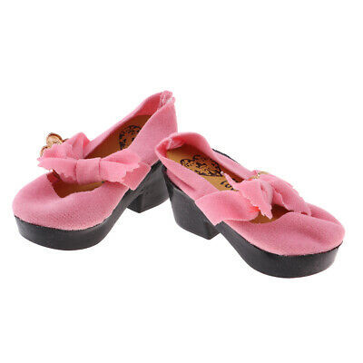 Pair Pink Doll Shoes Doll Accessory for 1:4 Scale Girl Dolls Party Wear Accs