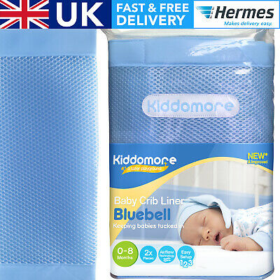 SALE Gorgeous Blue Crib Bumper for Baby Boys - Mesh and Keeps Babies Safe in Cot