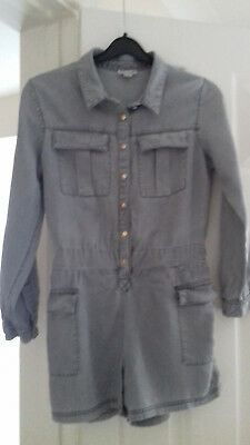 Girls RIVER ISLAND playsuit age 10 years, light grey colour
