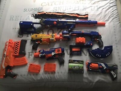 Nerf Gun Bundle Including Long Strike Cs6 ,demolisher 2-1, Hail Fire Elite !!!